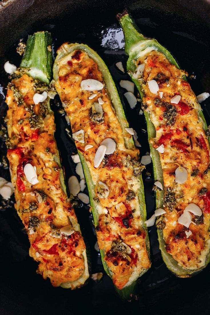 Rezept Vegetarisch gefüllte Zucchini