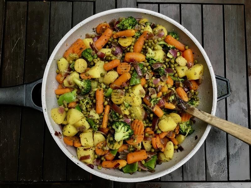 Rezept Vegetarische Bauernpfanne – Gesunde Gemüse Pfanne