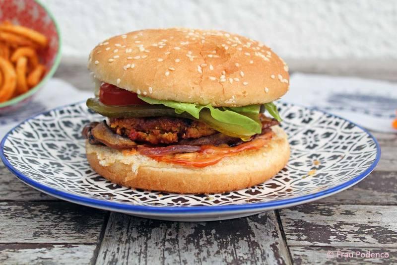 Rezept Vegetarische Burger aus Süßkartoffeln und Kichererbsen