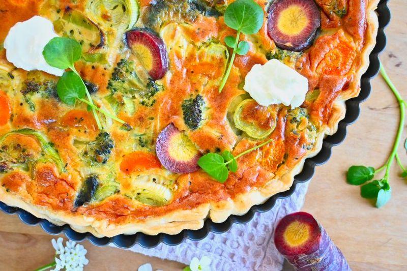Rezept Vegetarische Gemüsequiche mit Blätterteig