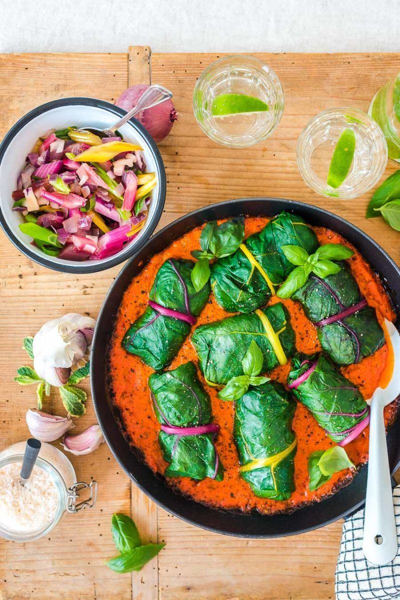 Rezept Vegetarische Mangold Rouladen