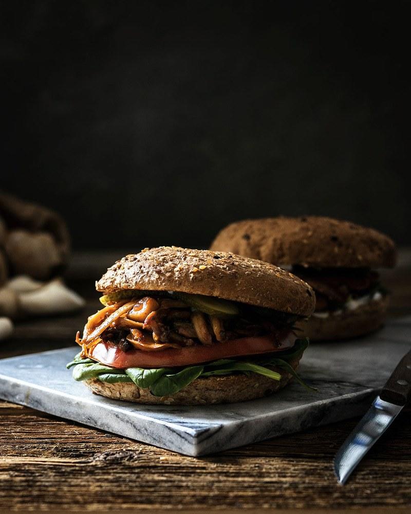 Rezept Vegetarischer Pulled Pork Burger   Ein herzhaft-deftiger Veggie-Burger ohne Fleisch