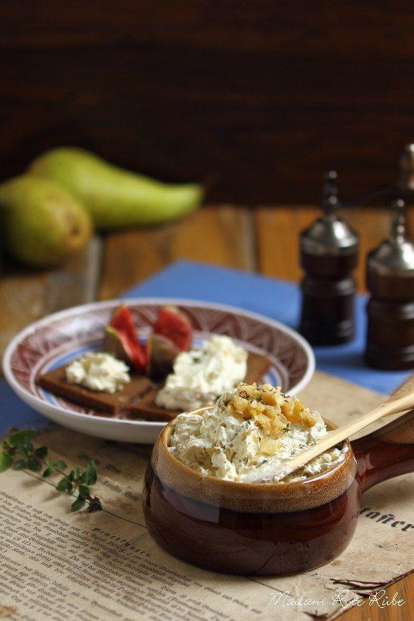 Rezept Vegetarisches Birnen-Zwiebel-Schmalz
