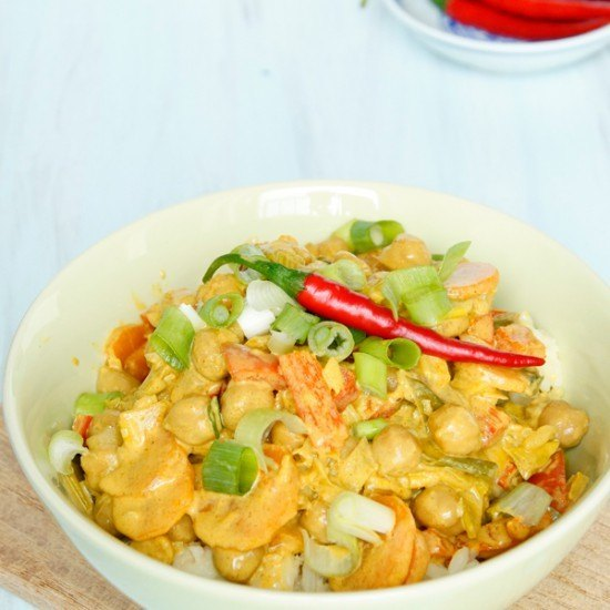 Rezept Vegetarisches Curry mit Kichererbsen