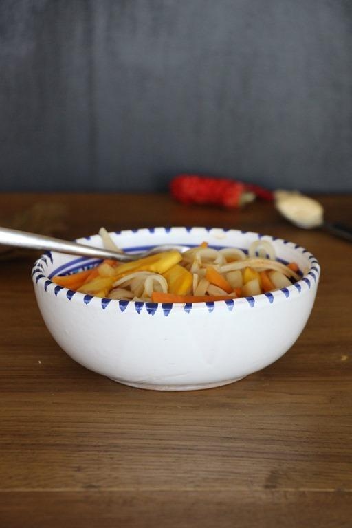Rezept Veggie Pad Thai mit Erdnuss - Ingwer - Soße