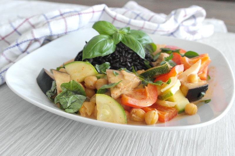 Rezept Veggie Thai Curry mit schwarzem Reis