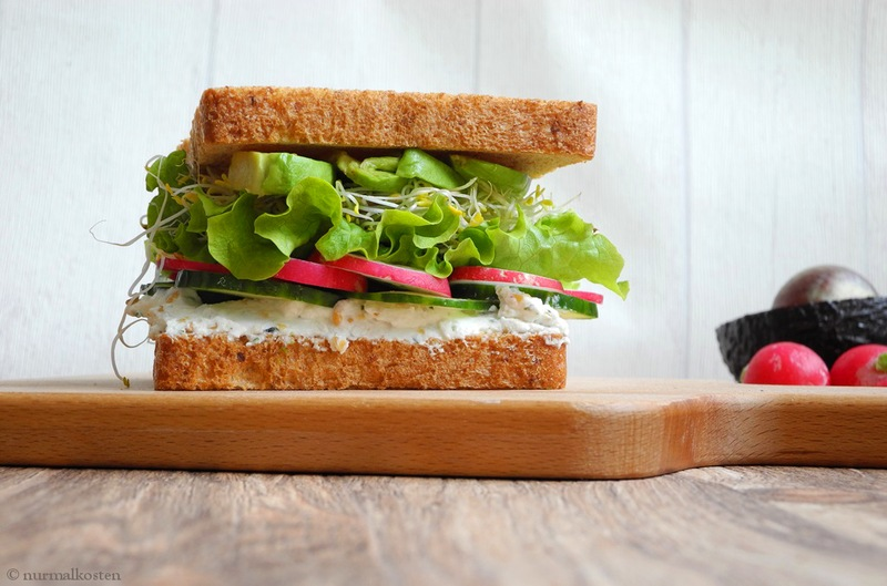 Rezept Veggiesandwich mit Hanfaufstrich