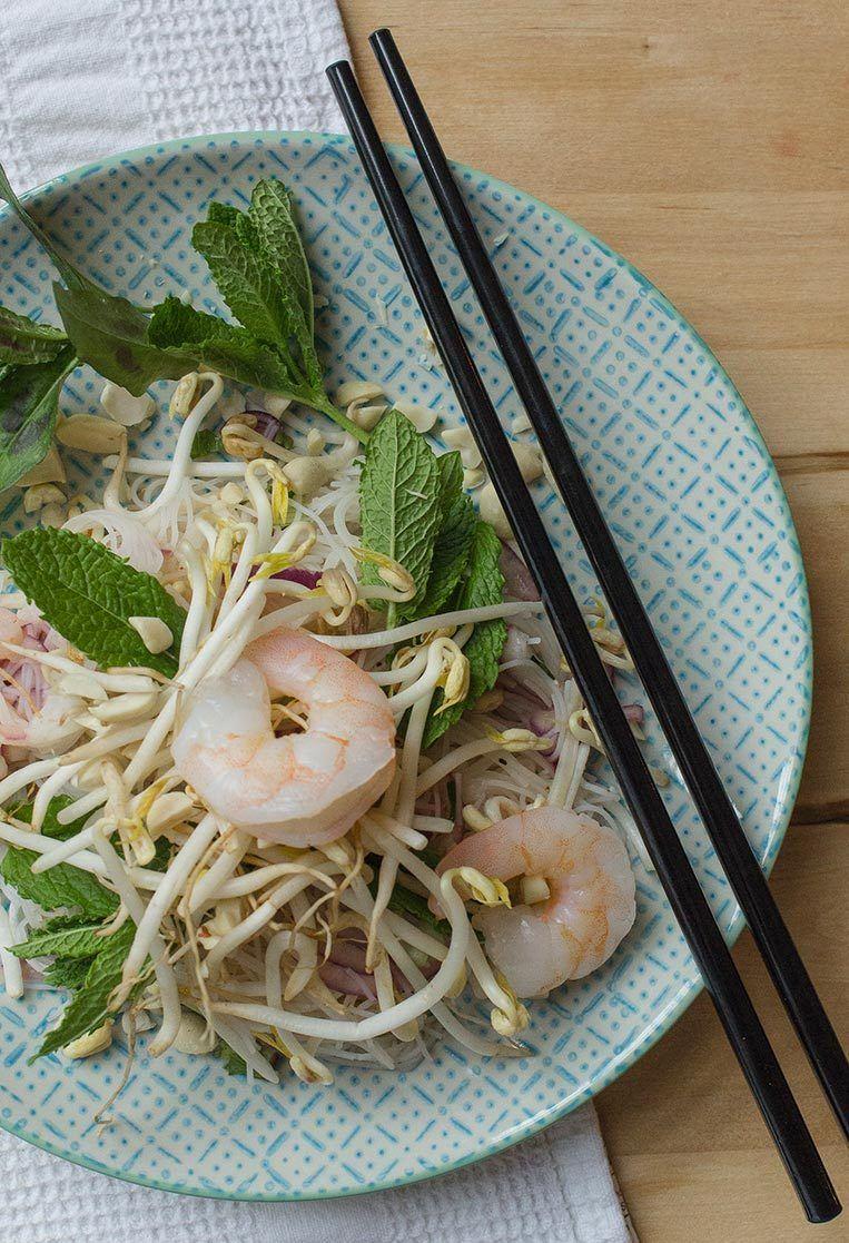 Rezept Vietnamesischer Glasnudelsalat mit Garnelen