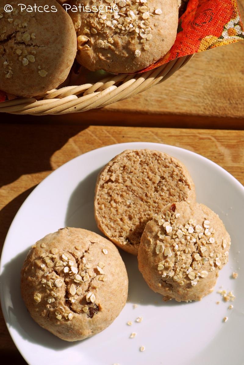 Rezept Vollkorn-Rosinen-Brötchen mit Haferflocken