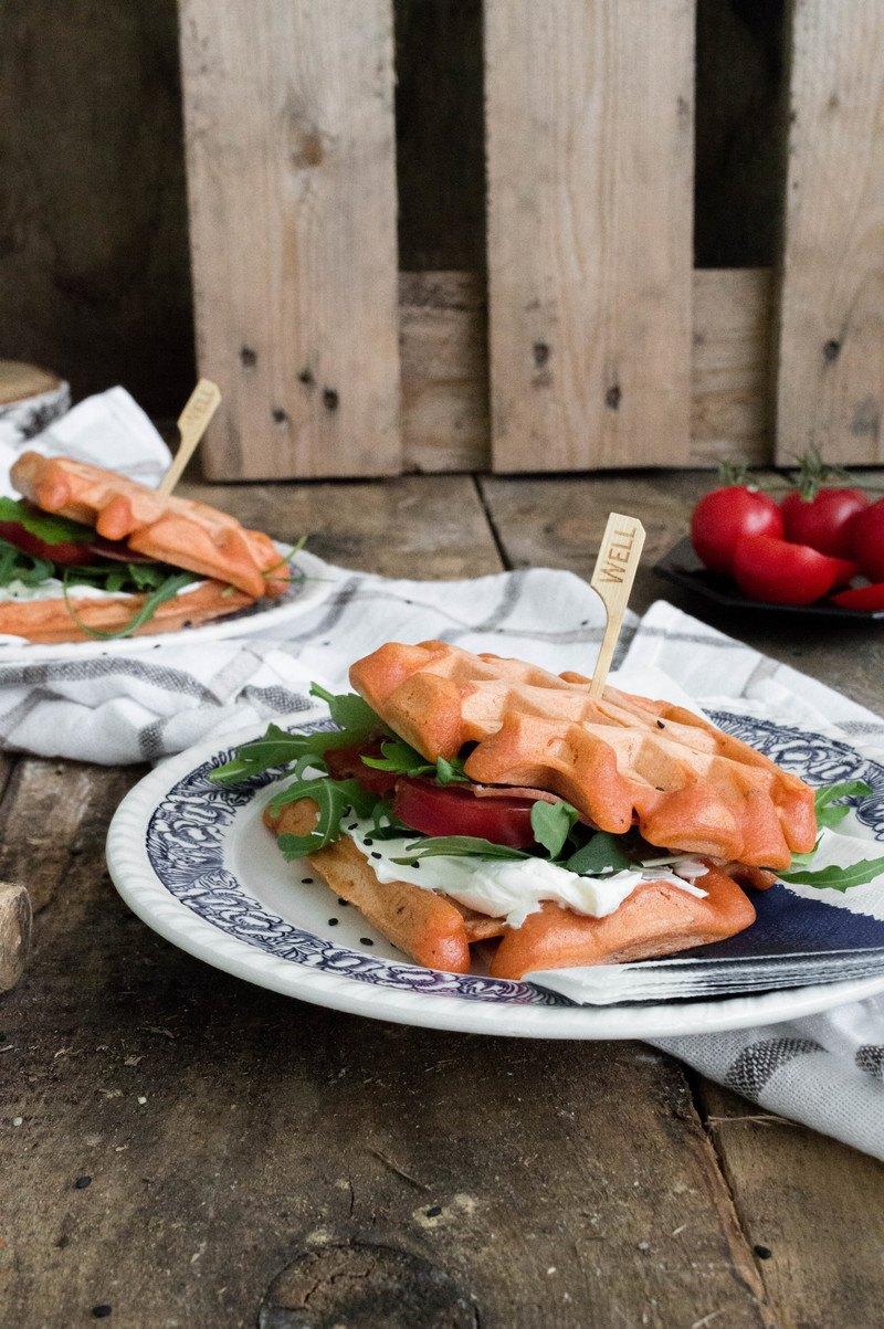 Rezept Waffelsandwiches mit Rucola