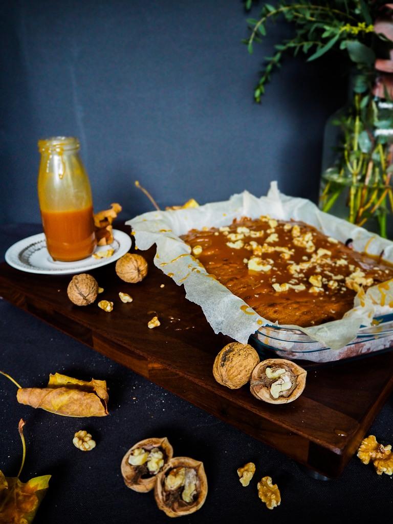 Rezept Walnuss-Brownies mit Salted Caramel Topping