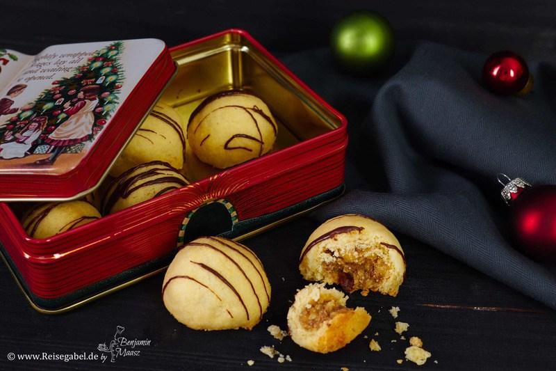 Rezept Walnuss-Marzipan-Kugeln mit Honigessig