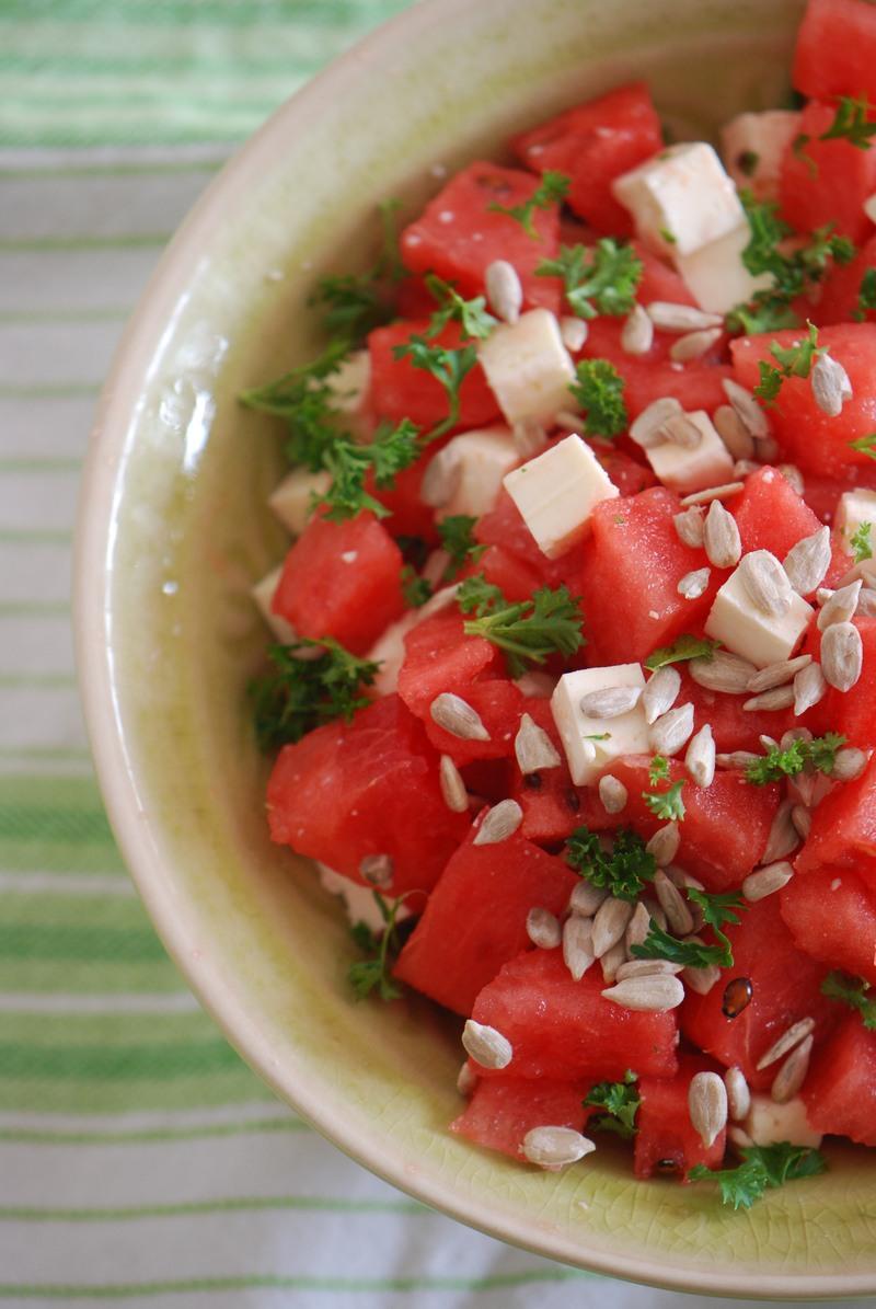Rezept Wassermelonen-Feta-Sala