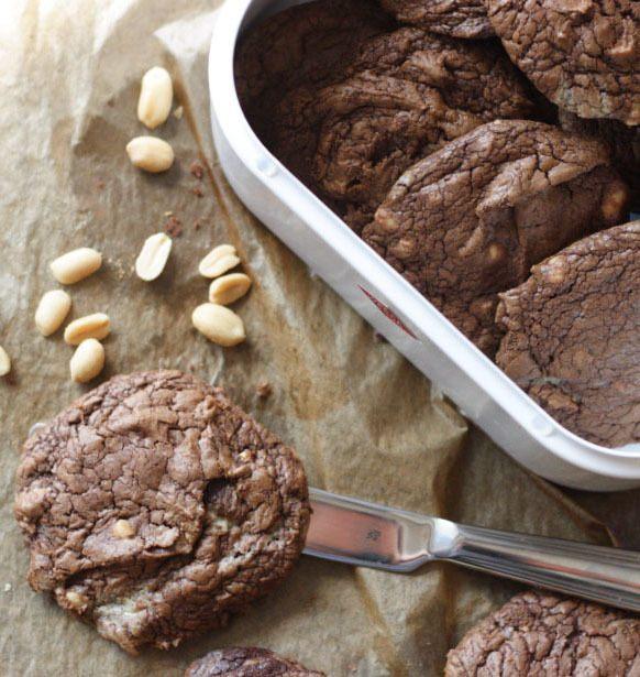 Rezept weiche Erdnuss-Schoko-Cookies