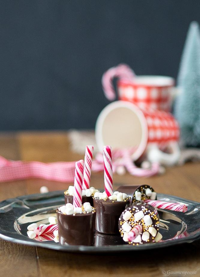 Rezept Weihnachtliche heisse Schokolade am Stiel