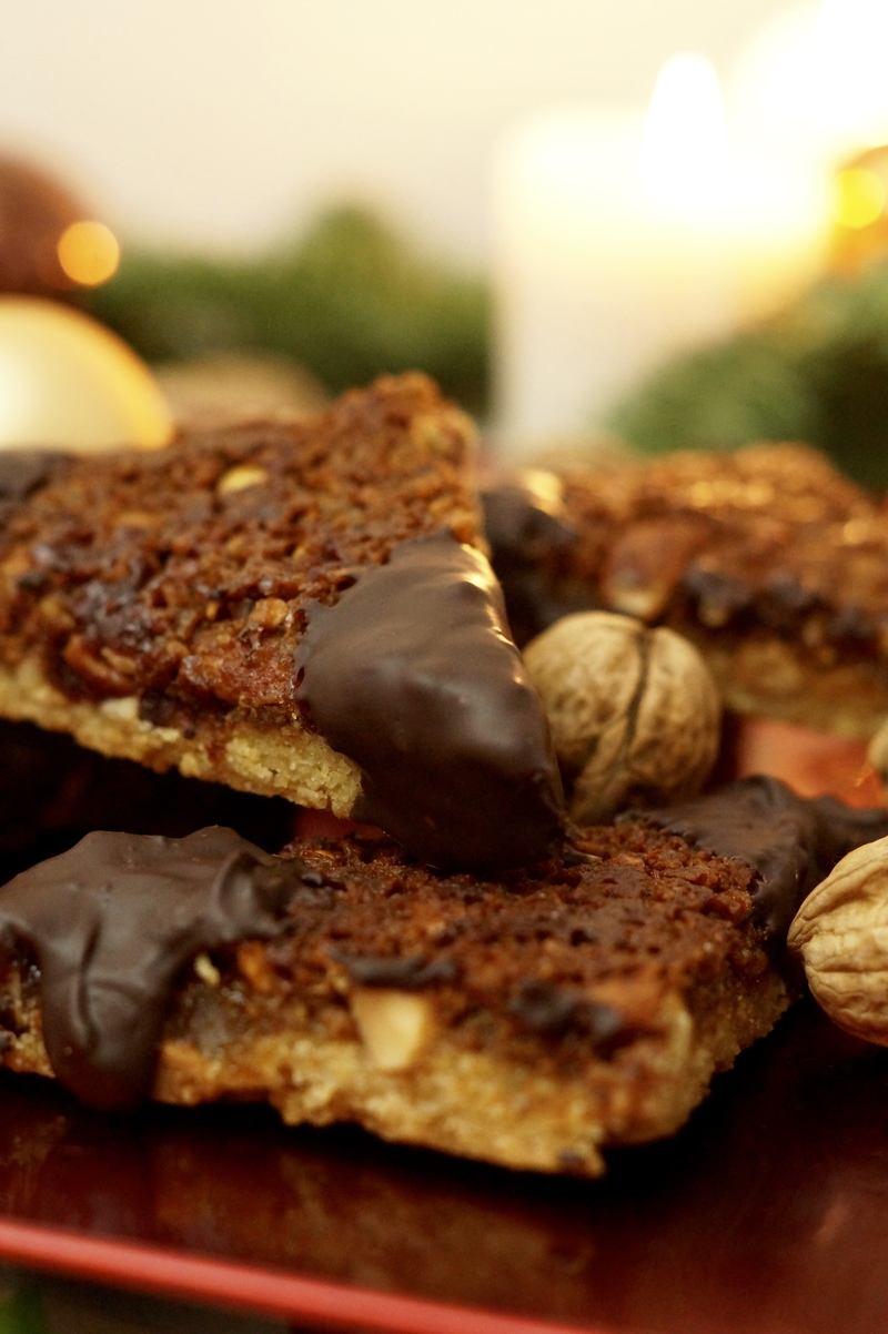 Rezept Weihnachtliche Nussecken