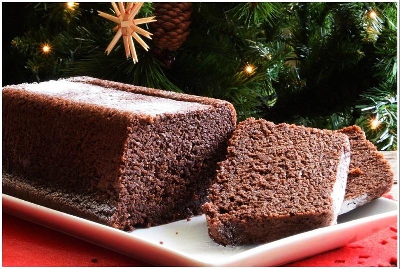 Rezept Weihnachtlicher Schokoladen-Zimt-Mandel-Kuchen (low Carb & Glutenfrei)