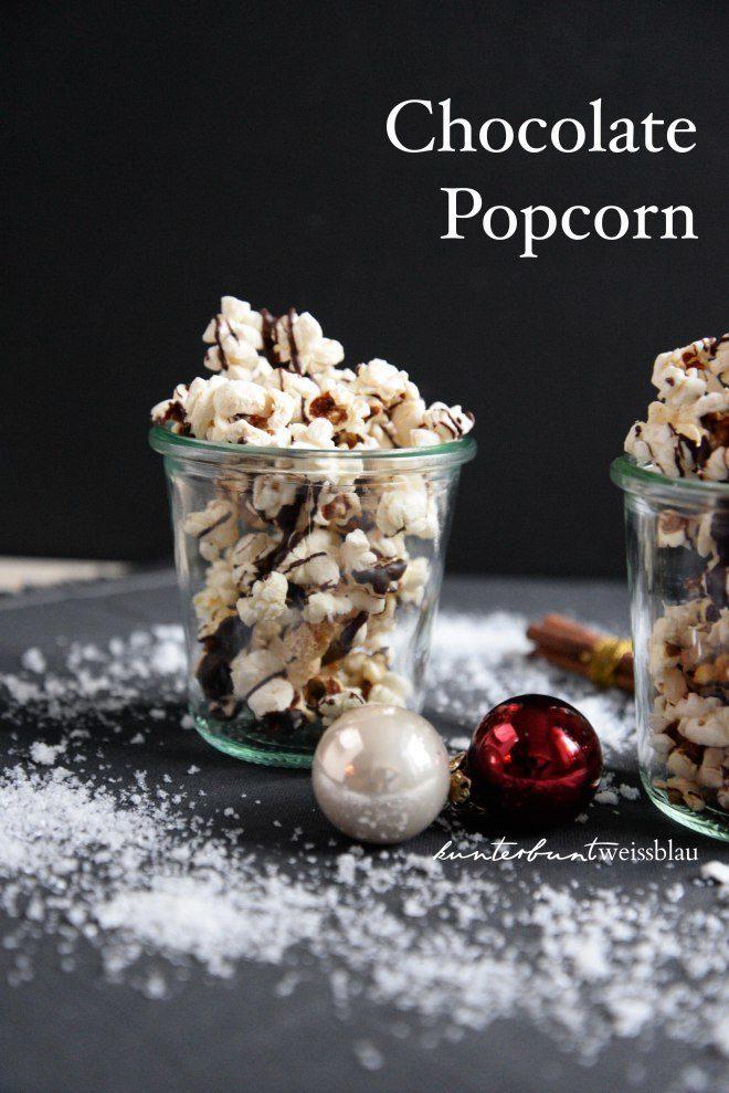 Rezept Weihnachtliches Popcorn mit Schokolade