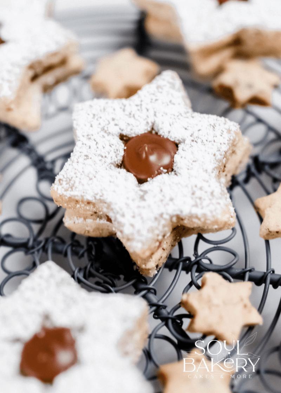 Rezept Weihnachtsbäckerei: Nuss Nougat Sterne