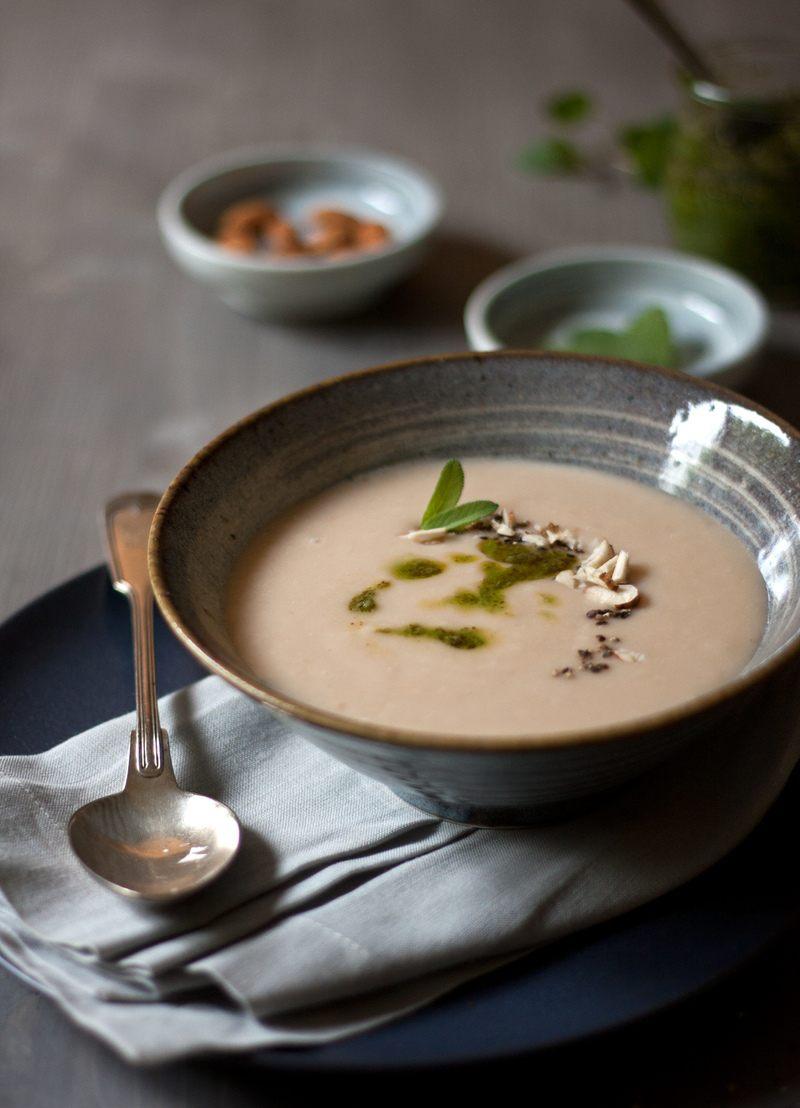 Rezept Weiße Bohnen-Mandel-Suppe