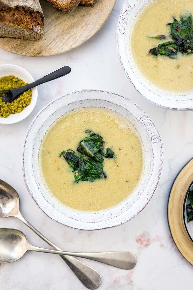 Rezept Weiße Bohnensuppe mit Mangold