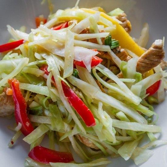 Rezept Weisskohlsalat mit Pute & Mango