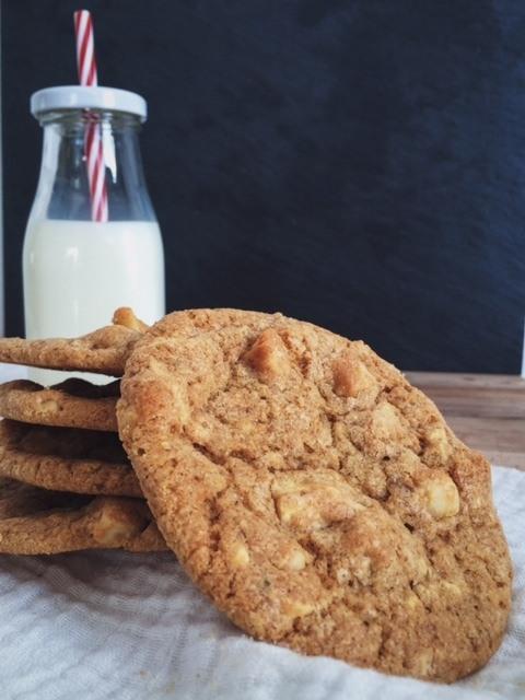 Rezept White Chocolate Macadamia Cookies