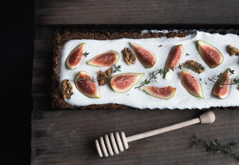 Rezept Wildfeigen, Joghurt & Honig Tarte