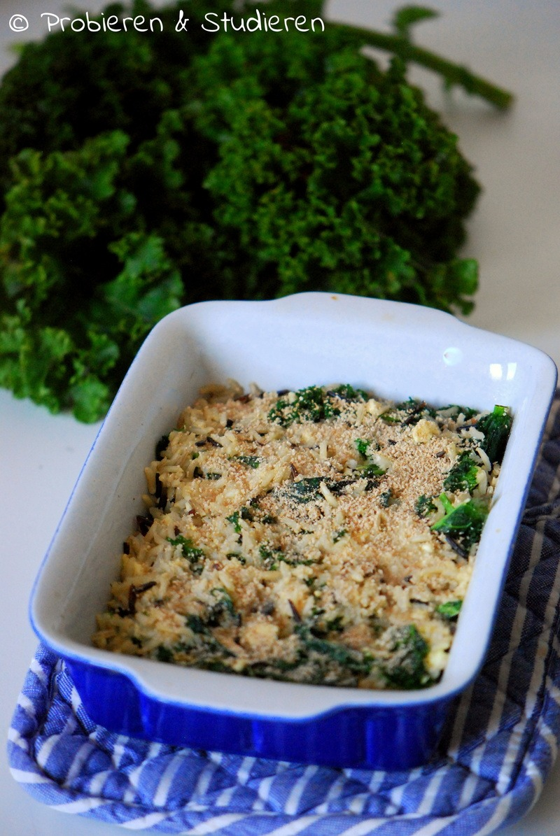 Rezept Wildreis-Grünkohl-Gratin mit Käse