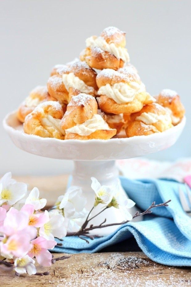 Rezept Windbeutel mit Pfirsichfüllung