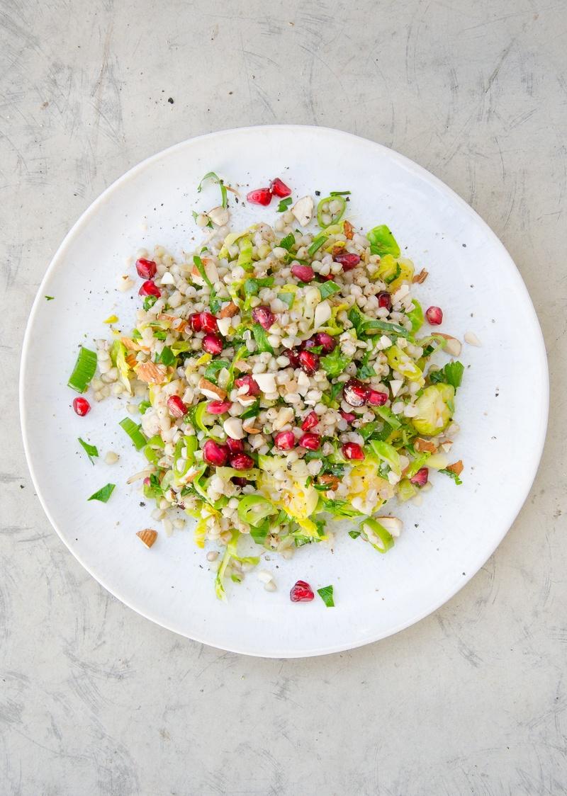 Rezept winterlicher Rosenkohl und Buchweizen-Salat