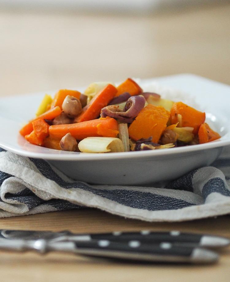 Rezept Winterliches Ofengemüse mit Dressing