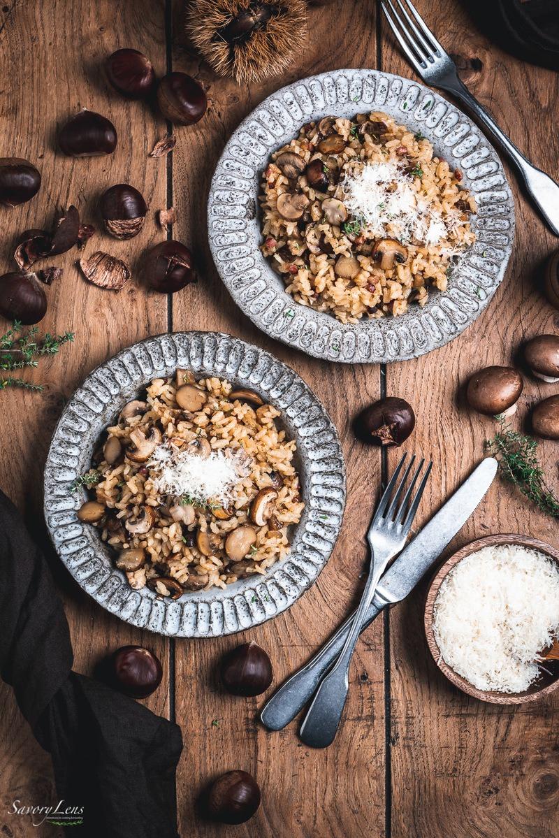 Rezept Winterliches Pilz-Maronen-Risotto