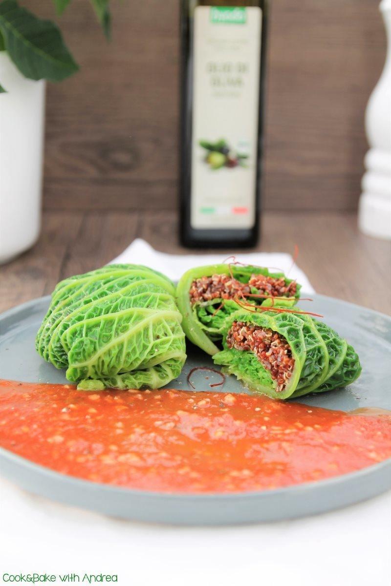 Rezept Wirsingroulade mit Quinoa [vegan]