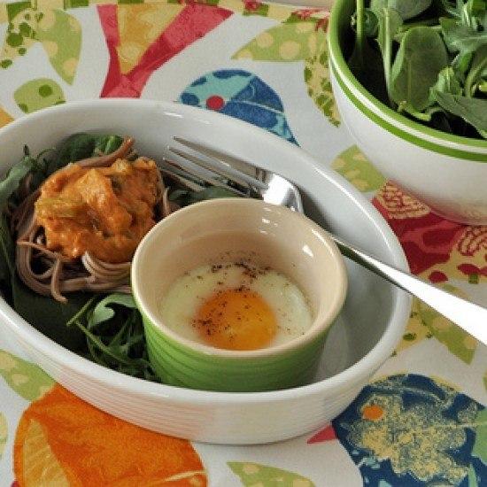 Rezept Wuerzige Tomatensauce und ein gebackenes Ei