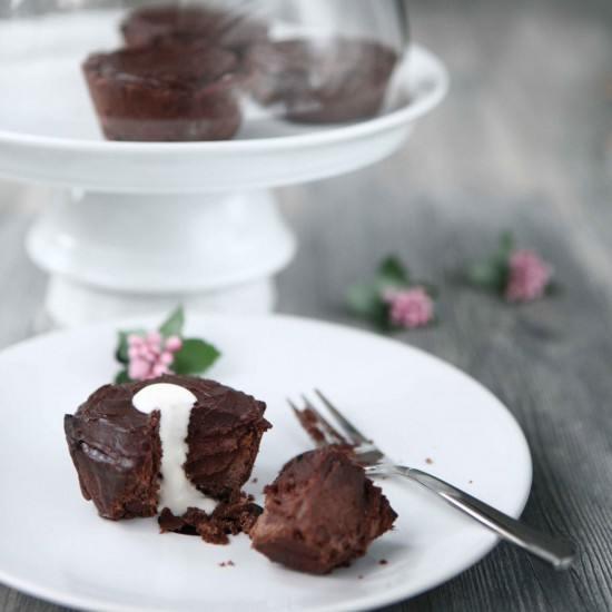Rezept Zart und Bitter Schokoladentörtchen