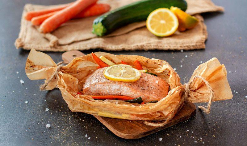 Rezept Zarter Lachs aus dem Ofen mit Gemüse