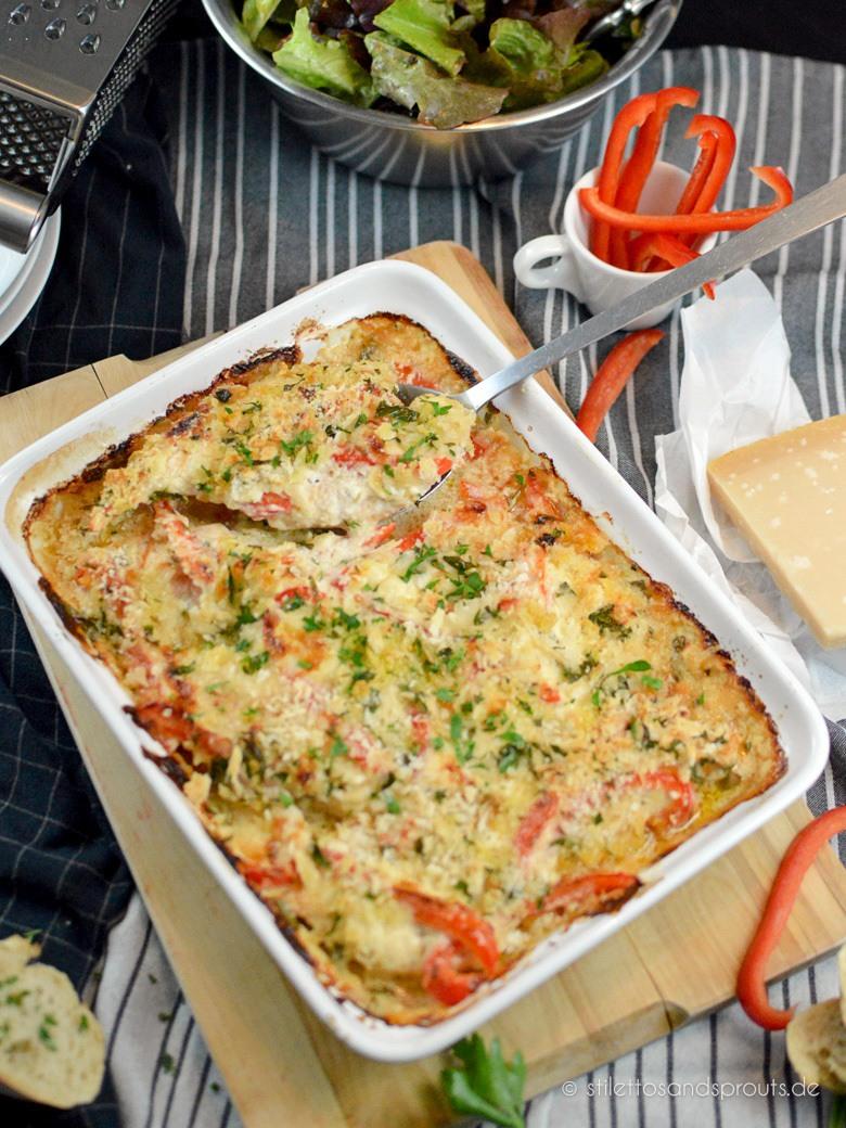 Rezept Zartes Chicken Parmesan aus dem Ofen
