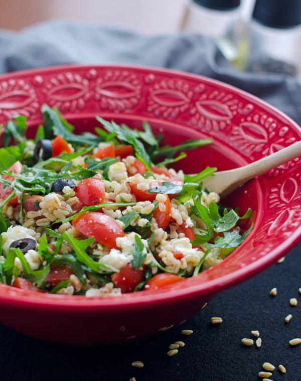 Rezept Zartweizen Salat mit Rucola, Tomaten, Oliven und Mozzarella