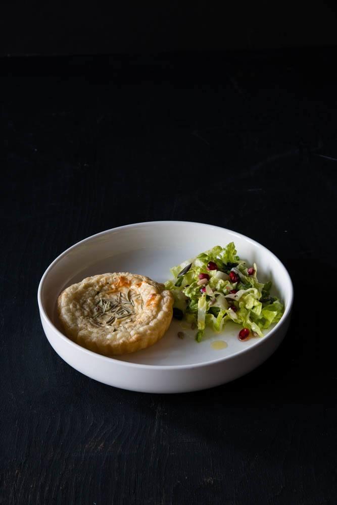 Rezept Ziegenkäsetartelette mit Salat