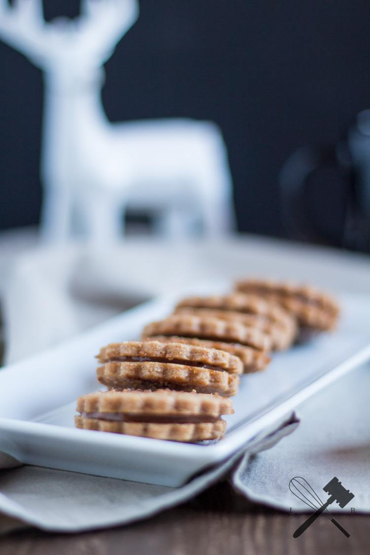 Rezept Zimt Shortbread mit Nutella-Füllung