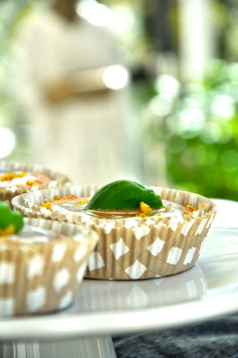 Rezept Zitronen-Basilikum-Törtchen