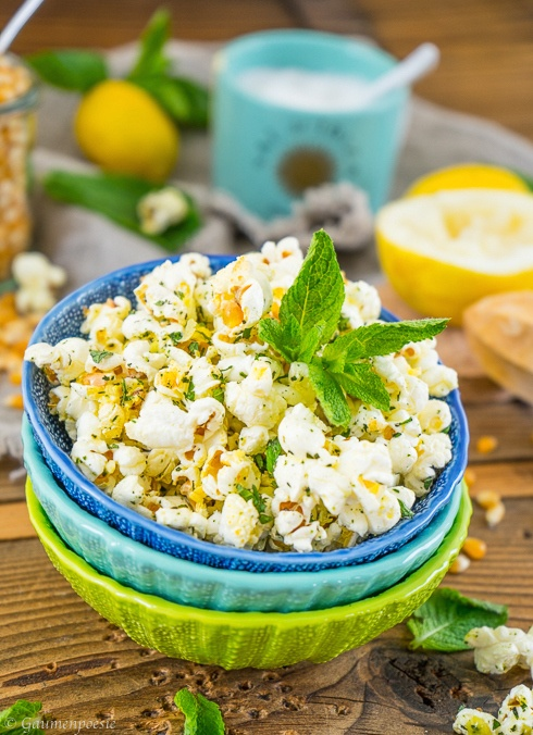 Rezept Zitronen - Minz - Popcorn