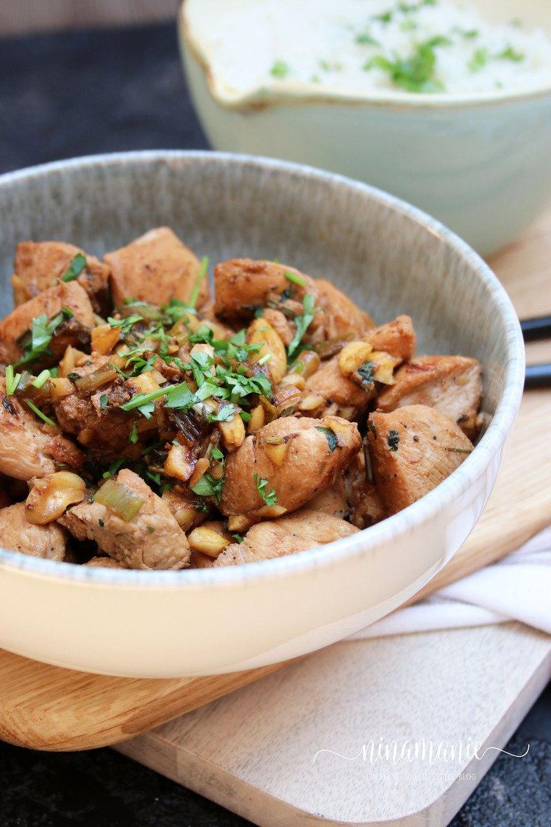 Rezept Zitronengras-Poulet mit Reis