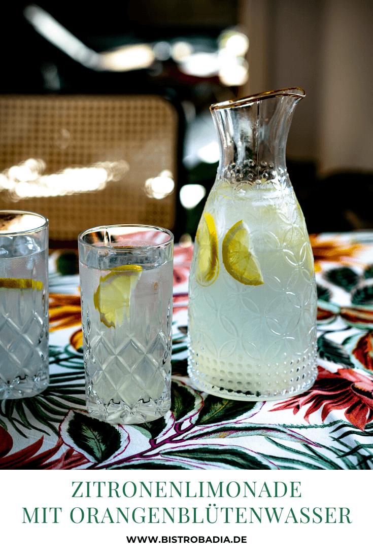 Rezept Zitronenlimonade mit Orangenblütenwasser