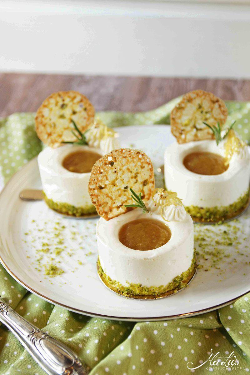 Rezept Zitronentörtchen mit zarten Pistazienknusperblättern