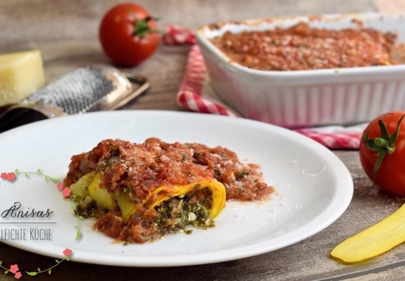 Rezept Zoodel Cannelloni mit einer Feta-Spinat Füllung