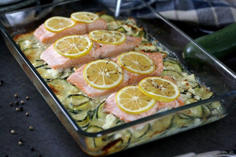 Rezept Zoodle-Auflauf mit Lachs