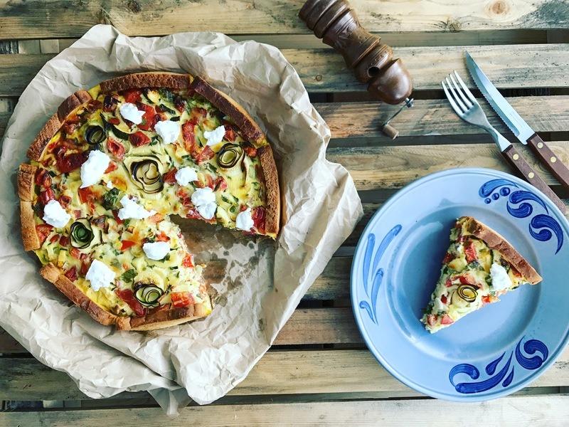 Rezept Zucchini Bruschettaquiche mit Ziegenfrischkäse