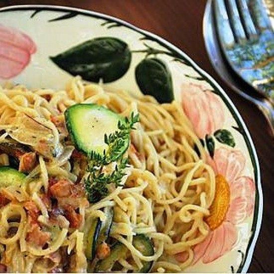 Rezept Zucchini Carbonara